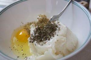 Ricotta Cheese, Egga and Herbs